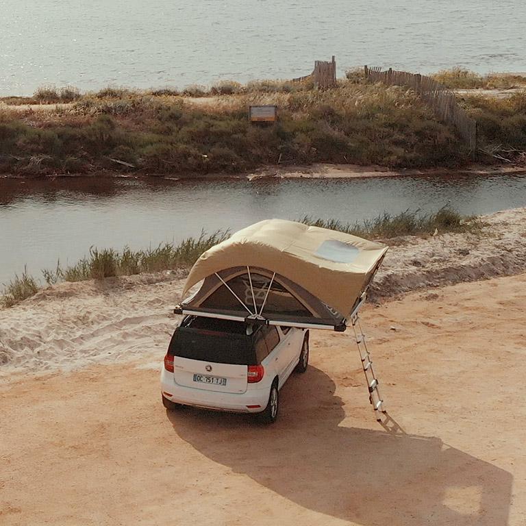 BXF.1 tente de toit 4 places pour 4x4 - Côté