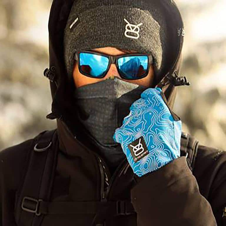 Gant VTT hiver - PAC bleu porté